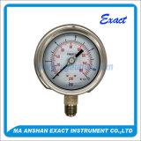 すべてのステンレス鋼圧力計オイルの圧力計Bourdonの管の圧力計