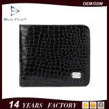 Подгонянный бумажник владельца карточки неподдельной кожи подарка конструкции логоса симпатичный