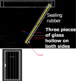 10のガラスドアのフリーザーの歩行の表示