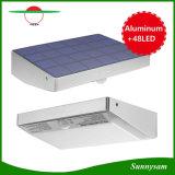 アルミ合金フレーム48 LEDの太陽エネルギーLED軽いIP65はPIRの動きセンサーの機密保護ランプの無線屋外の庭のヤードのテラスの壁ライトを防水する