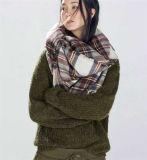 여자 큰 유행 온난한 격자 무늬 담요 스카프 화려한 포장 숄 (80016-1)