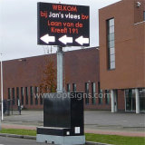 Tarjeta ambarina de la muestra al aire libre del color LED de la pantalla de mensaje de control programable del tráfico