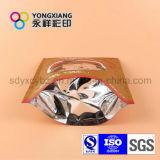 Раговорного жанра пакет легкой закускы алюминиевой фольги пластичный с застежкой -молнией