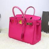 Sac d'emballage fait sur commande de cuir véritable de sacs à main de marque de sac à main de dames Emg4775