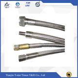 Reforçar o tipo mangueira trançada inoxidável da flange do metal flexível de fio de aço