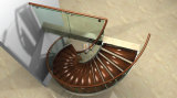 Escalera espiral de interior moderna del acero inoxidable