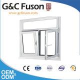 Guichet en aluminium de tissu pour rideaux de couleur blanche enduite de poudre pour commercial et résidentiel