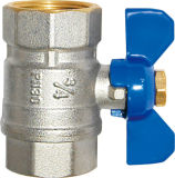 Продающ провод гаечной резьбы латунные и клапан (EM-V-6)