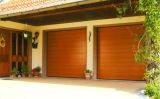 Дверь штарки завальцовки промышленного/селитебного деревянного цвета зерна деревянного алюминиевая