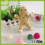 Jouets de mastication d'animal familier de jouets de corde de coton d'homme de pain d'épice
