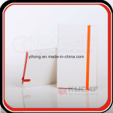 Die Rand-Farbe an elastisches Schliessen geprägte Firmenzeichen A5 PU-Notizbücher 2017 anpassen