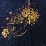 Terciopelo de seda impreso descarga en modelo de flor