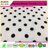 Tessuto bianco con vestiti chiffoni dalla tessile del tessuto dei punti neri i maxi