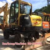 Máquina escavadora usada da roda de Hyundai 60W da máquina escavadora da roda de Hyundai (6T) para a venda