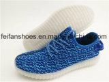 Люди Breathable СИД освещают ботинки спорта заряжателя USB ботинок (FFLS0208-01)