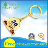 Hete OEM van het Leer Keychains/van het Metaal van de Douane van de Verkoop Sleutelringen met Kleurrijk Embleem