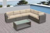 Outdoor Patio Wicker Furniture Garden Sofa Rattan Medi Lounge Set (J587)