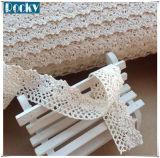 O laço branco Sewing do algodão dos acessórios do laço de DIY apara o laço da beira