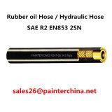 Le boyau à haute pression de pétrole de SAE R2 En853 2sn de boyau hydraulique en caoutchouc de boyau/deux couches de fils d'acier a tressé