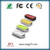 Chargeur portatif de secours de côté du pouvoir 2200mAh de rouge à lievres d'ABS