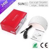 Lámpara ULTRAVIOLETA ligera vendedora superior del gel de la lámpara 365nm 405nm Sun9c LED del clavo de Sun para el clavo falso y el clavo verdadero