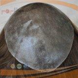 Польностью поли Coated впрыснутая верхним сегментом часть волос парика Mens цвета Brown, Toupee Mens