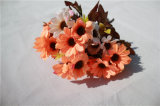 Flores de seda artificiales margarita para la decoración de la boda