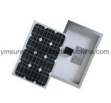 panneau solaire renouvelable et environnemental de 25W avec l'homologation d'OIN et de CE