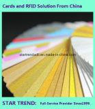 Cartão azul plástico em branco de Cr80/30mil para o estoque do varejista