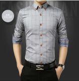 Man′ S het Overhemd van de Lange Mensen van de Koker van het Overhemd van de Plaid Slanke Geschikte