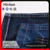 Tela elevada das calças de brim da sarja de Nimes do Twill do estiramento para calças de brim das mulheres