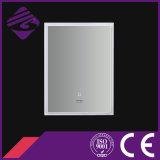 LED rétro-éclairé tactile Cadre de PVC d'écran Miroir salle de bains avec horloge