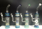 Cirkel van Gldg om Zilver te omcirkelen plateerde de Blauwe Gekleurde Waterpijp van het Glas
