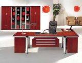 Meubles de bureau en bois argentés de bureau de placage de forces de défense principale de peinture (NS-SL043)