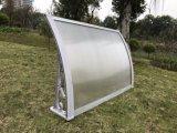 toldo inoxidável do policarbonato do telhado do frame de aço de 1000*1200mm
