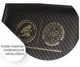 Retro Clamshell Gilding Textura Couro Caixa De Presente De Madeira