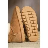 女性のための暖かい冬の羊皮の足首のブート