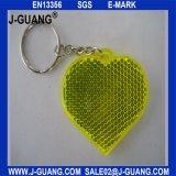 Gelbe Belüftung-reflektierende Schlüsselkette mit En20471