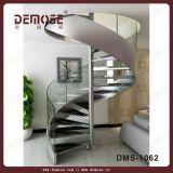 現代螺線形の鋼鉄ガラスステアケース(DMS-1062)