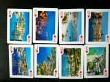 54 tarjetas que juegan de papel de diverso diseño con las tarjetas que juegan del sostenedor/del póker
