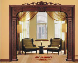 Sólido interior Moldeo Madera Marco de ventana de la puerta decorativa (GSP17-003)