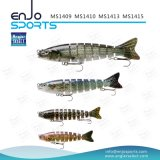 Richiamo d'affondamento congiunto selezionato di pesca dell'attrezzatura di pesca dell'amo di Trible dell'esca di richiamo di plastica del pescatore multi (MS1410)