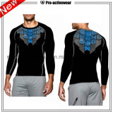 Sport de vêtement de compactage d'OEM exécutant le long T-shirt d'hommes de chemises