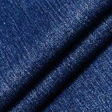 Tela viscosa azul do Spandex do poliéster para calças de brim da sarja de Nimes