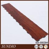 Plancher en plastique de PVC de stratifié de regard de bois de rose