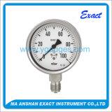 Tipo de aço Calibrar-Inoxidável manómetro da cápsula normal do uso