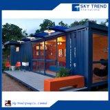 20 pieds de structure métallique d'acier léger de luxe de maison préfabriquée de encadrement de conteneur