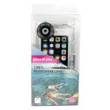 Sac sous-marin plongeant de sports de cas imperméable à l'eau de téléphone portable du prix usine de qualité 40m pour iPhone6 plus le cas de smartphone de 5.5 pouces
