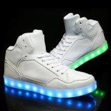 Modieuze Hoge LEIDENE van de Tennisschoenen van de Enkel van de Hals Lichte Schoenen voor de Vrouwen van Mannen