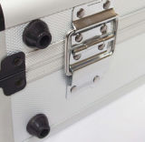 Серебряная белая коробка оборудования алюминиевого сплава портативная противоударная